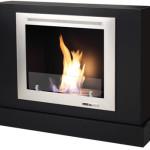 Free Standing Rectangular Black Fireplace- VFC2100B Bio Ethanol Fireplace